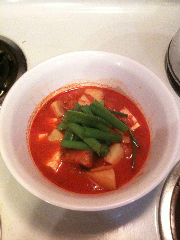 Homemade Kimchi Jigae...mmm mmm good!
